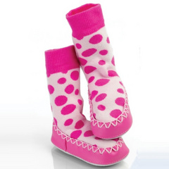 Slippers pink dots